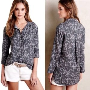 Anthropologie Cloth & Stone Leopard Print Shirt S